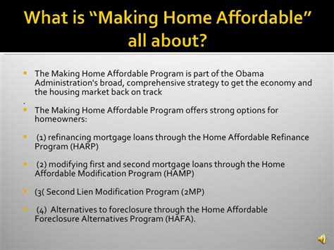 making home affordable plan home affordable mortgage program making home affordable