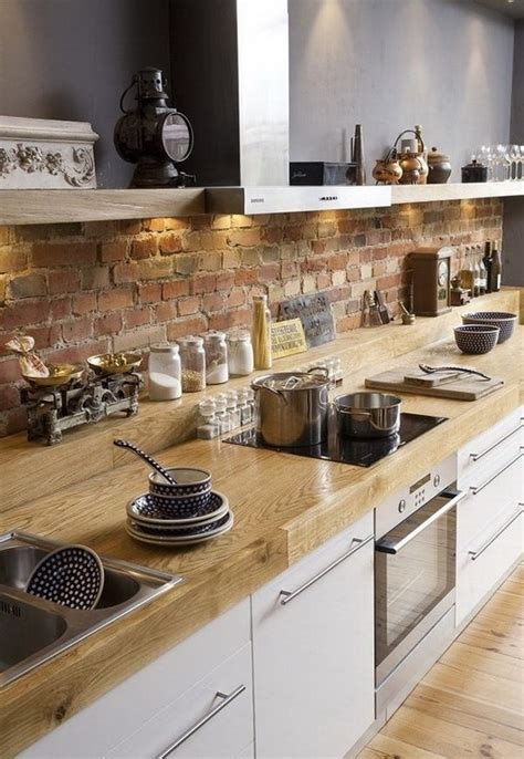 kitchen with brick wall modern furniture traditional kitchen with brick walls