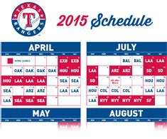 printable rangers schedule printable schedule texas rangers