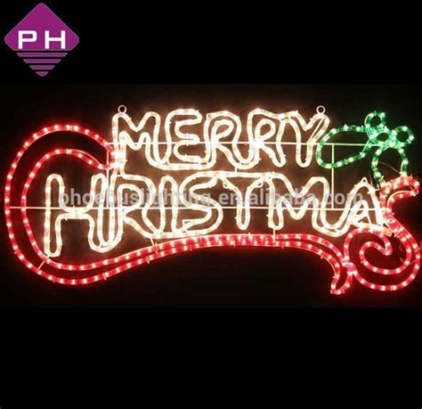 Outdoor Lighted Signs Merry Motif