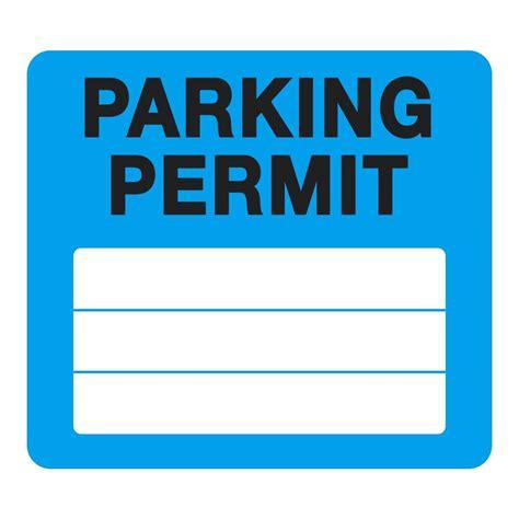 Parking Permit Template Parking Template