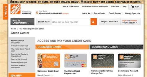 home depot credit card login login archives