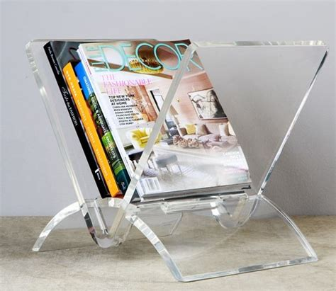 living room magazine holder interlude home versa acrylic magazine rack family room living rooms and room