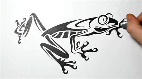 tribal frog tattoo designs how to draw tree frog tribal design real time