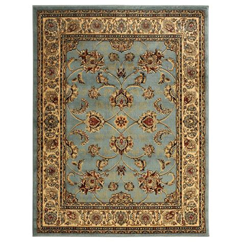 ottomanson area rugs ottomanson traditional light blue 5 ft 3 in x 7