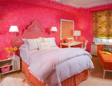 red and pink bedroom modern teen rooms design dazzle