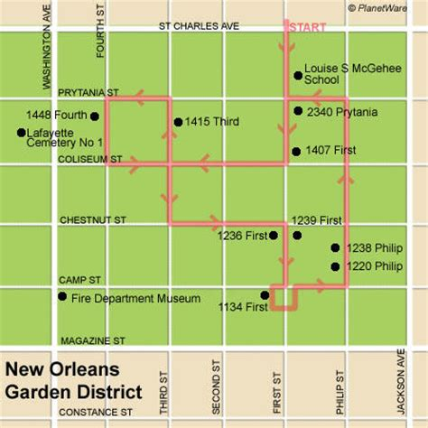 Garden District New Orleans Walking Tour Map what makes tick new orleans garden district