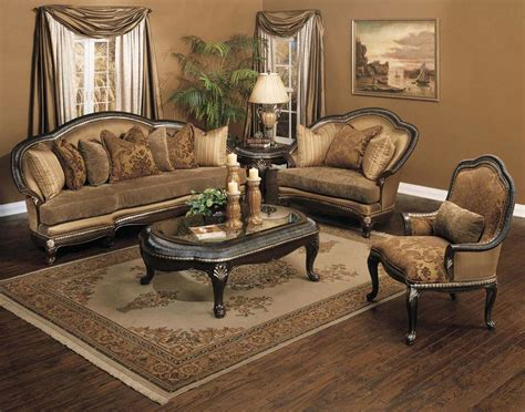 Living Room Furniture Traditional Style Plushemisphere Traditional Sofa Sets