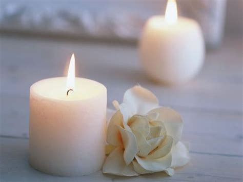 Pretty Candles Candle Flower Kwhite Pretty White Image 166050 On