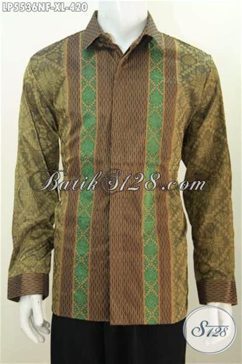 Batik Printing Bahan Halus Model Banyak Btm01011 hem tenun halus istimewa warna hijau baju tenun motif terbaru yang banyak di cari pria kantoran