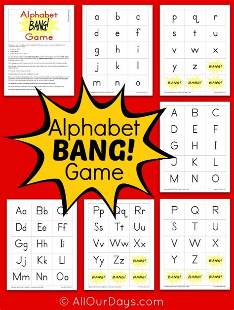 printable games with the alphabet 9 best images of printable kindergarten alphabet games