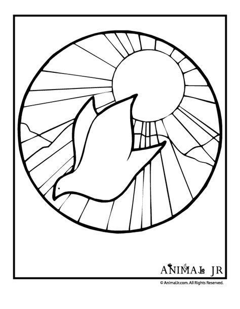 White Dove Coloring Page Coloring Home Peace Dove Coloring Page
