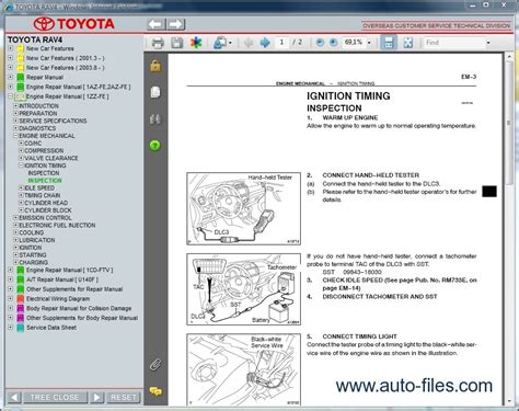 auto repair manual free download 2012 toyota rav4 engine control toyota rav4 aca20 zca25 cla20 repair manuals download wiring diagram electronic parts
