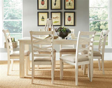 redondo vanilla casual dining room set by standard