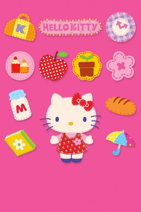 hello kitty cell phone themes pink hello kitty iphone 4 wallpapers free 640x960 new hd