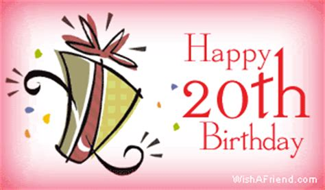 Happy 20th Birthday Wishes Age Specific Birthday Facebook Graphic Happy 20th Birthday
