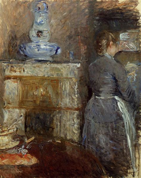 Berthe Morisot In The Dining Room The Rouart S Dining Room Berthe Morisot Wikiart Org Encyclopedia Of Visual Arts