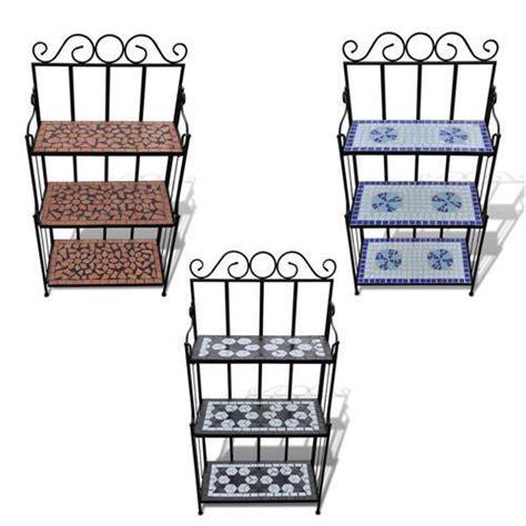 Tiered Pot Rack by 3 Colours Mosaic 3 Tier Plant Stand Pot Rack Garden Flower Display Shelf Storage Ebay