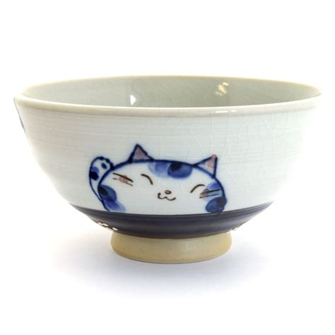 japanese pattern bowl japan centre ceramic rice bowl blue cat pattern bowls