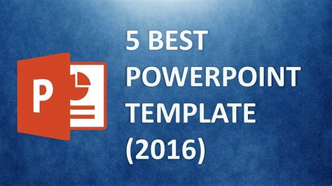 Best Powerpoint Templates The 5 Best Presentation Template 2016 Youtube Best Powerpoint Templates Website