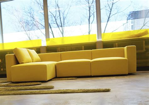 yellow sectional synthetic yellow leather l shaped modular couch with