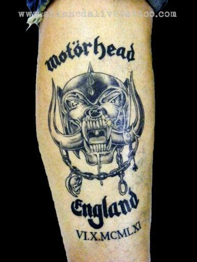 motorhead tattoo motorhead on forearm