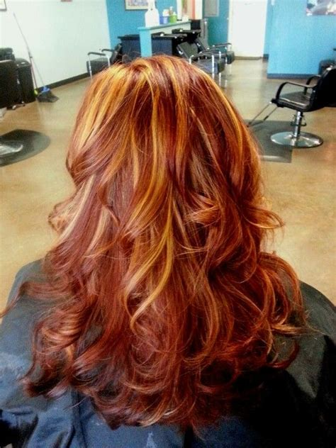 blonde hair with copper lowlights 11 best red hair images on pinterest hair color hair