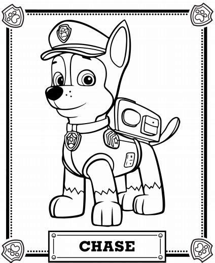 paw patrol nickelodeon coloring pages meet chase pawpatrol nickjr paw patrol pinterest