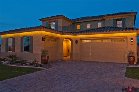 Beautiful Led Strip Lights convention Phoenix Mediterranean Exterior Decorating ideas with Eves