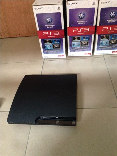 Blue Ps3 8 320gb play station 3 ps3 with 8 with blue pad