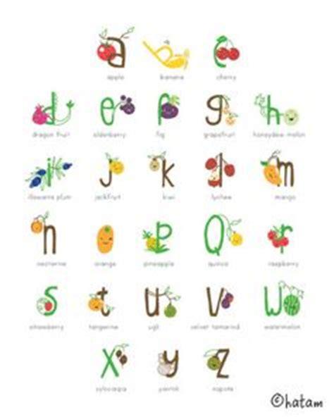 fruit 10 letters veggie fruit alphabet illustrations