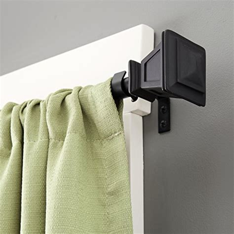 130 inch curtain rod kenney seville window curtain rod 90 to 130 inch matte black