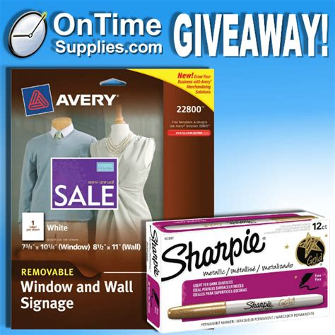 Sharpie Giveaway - avery signs sharpie markers giveaway