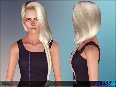 sims 3 braid hair anto s alesso cliche hair