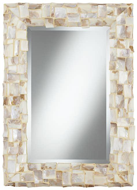 shell bathroom mirror sea shell 33 quot high mosaic wall mirror bathroom remodel