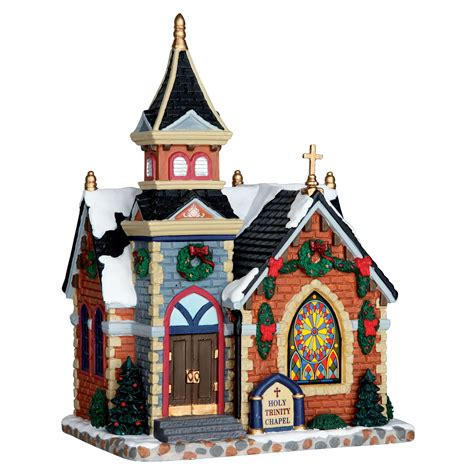 lighted christmas village sets lemax village building collection decor chapel lighted