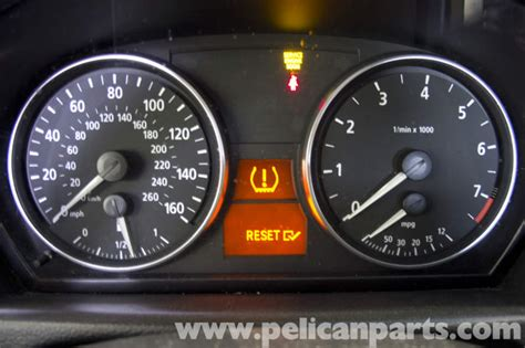 bmw  tire pressure warning light reset    pelican parts diy maintenance article