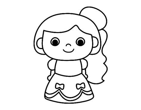 imagenes para pintar faciles dibujo de princesa alegre para colorear dibujos net