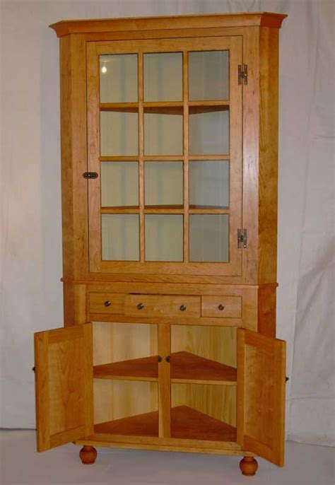 Handmade Furniture Pennsylvania - custom cherry pennsylvania corner cupboard vermont