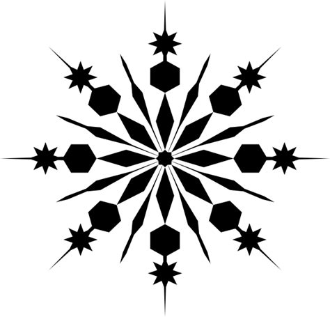 snowflake silhouette clip art at clker com vector clip