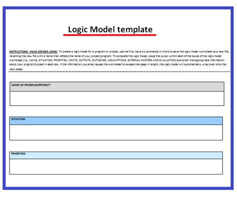 logic model template microsoft word 11 logic model templates free word templates