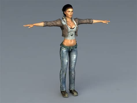 Alyx Vance 3d model 3ds Max,Object files free download