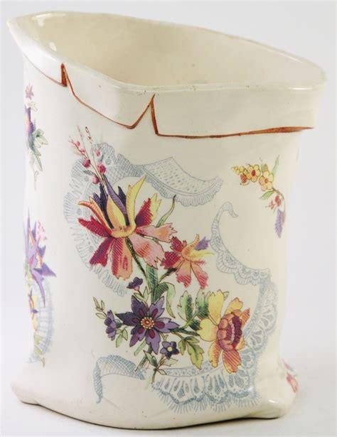 tall lava l lavalliere u cie sarreguemines antique french sack vase