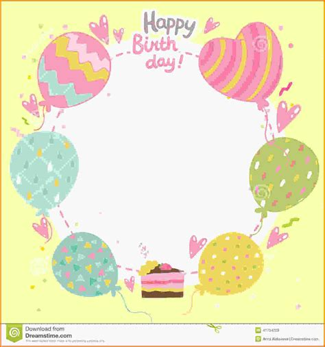 class bday card template happy birthday card template card design ideas