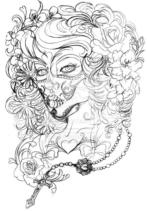 tattoo flash pages day of the dead tattoo by metacharis deviantart com on