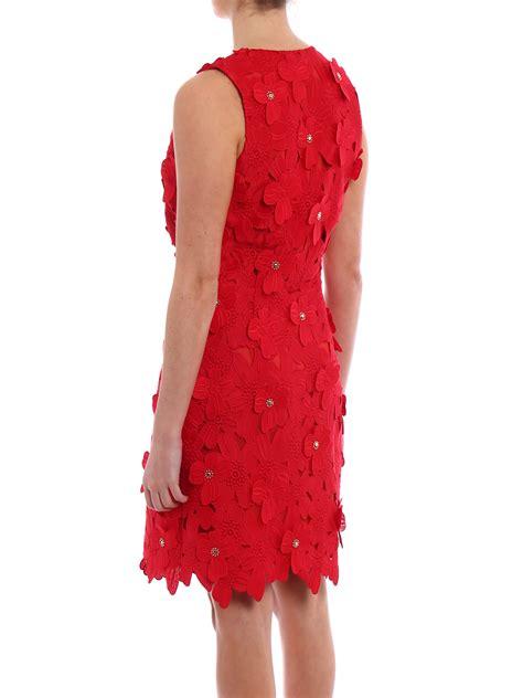 floral applique floral applique lace dress by michael kors