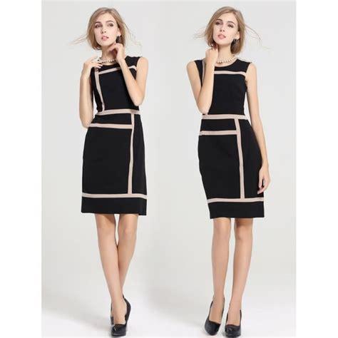modele de robe de bureau noir dame de bureau robe patchwork manches robe de soir 233 e