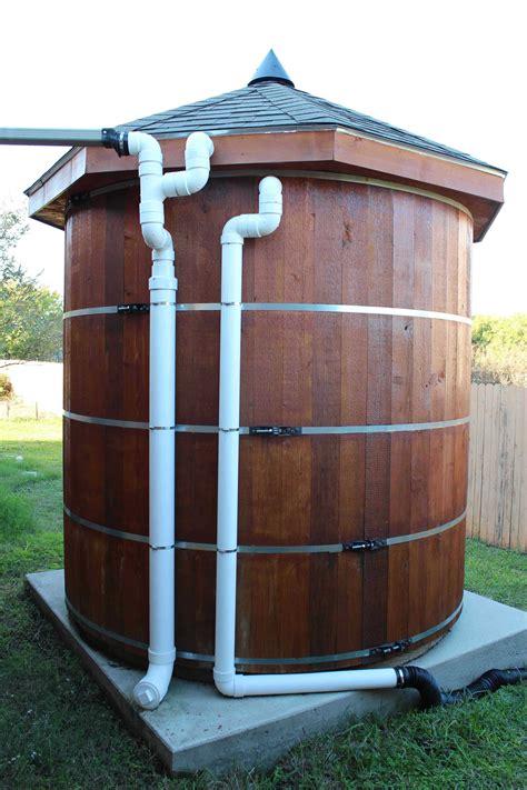 build    gallon wooden cistern rain water