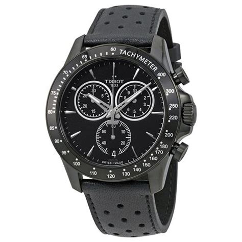 Tissot V8 Leather Crono Black For tissot t sport v8 chronograph black mens t106 417 36 051 00 mens watches best buy