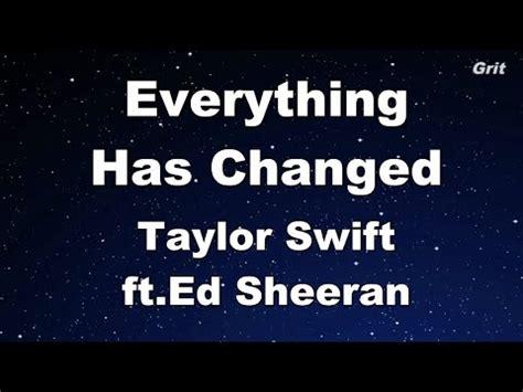 download mp3 taylor swift feat ed sheeran everything has changed 5 84 mb free everything has changed karaoke mp3 download